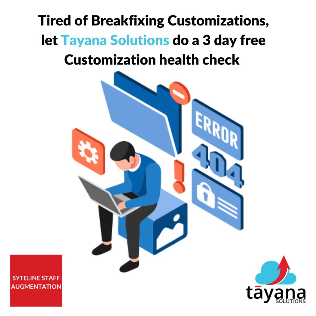 tayana solutions customization health check