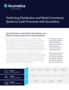 Acumatica Quote to cash distribution retail commerce