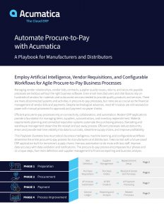 Automate procure to pay with Acumatica