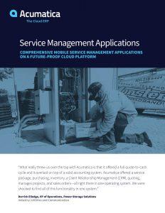 Acumatica service management applications